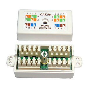 CAT5e Punchdown Krone Coupler White