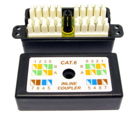 CAT6 Punchdown Krone Coupler Black