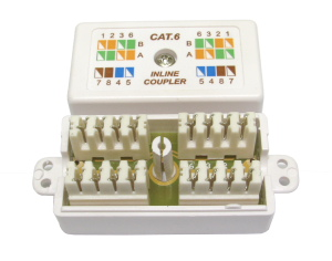CAT6 Punchdown Krone Coupler White