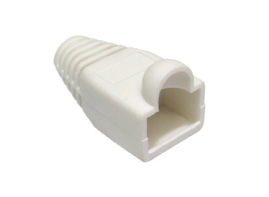 RJ45 Snagless Connector Boot White